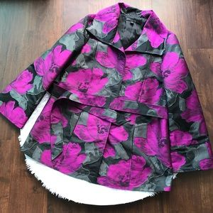 LAFAYETTE 148 NEW YORK Purple Floral Trench